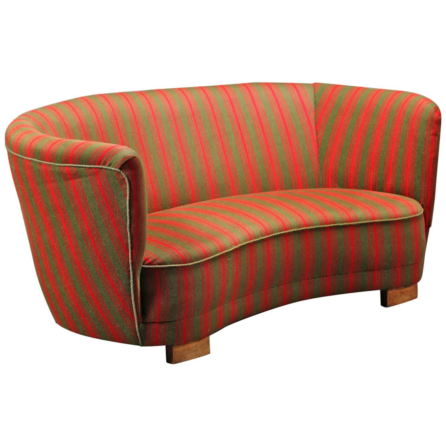 Sofas And Couches On Sale: Danish 1930s-Early 1940s Banana Form Loveseat For Sale At
