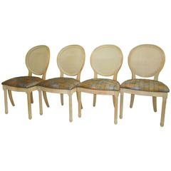 Set of Four Jay Spectre Dining Chairs for Century Furniture