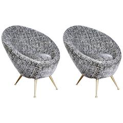 Pair of Egg-Shape Armchairs