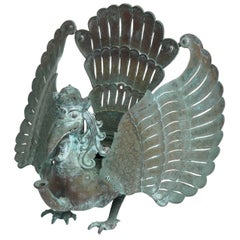 19th Century Southeast Asian Patinated Bronze Mythical Garuda Bird