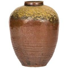Ming Dynasty Russet Glazed Ovoid Jar