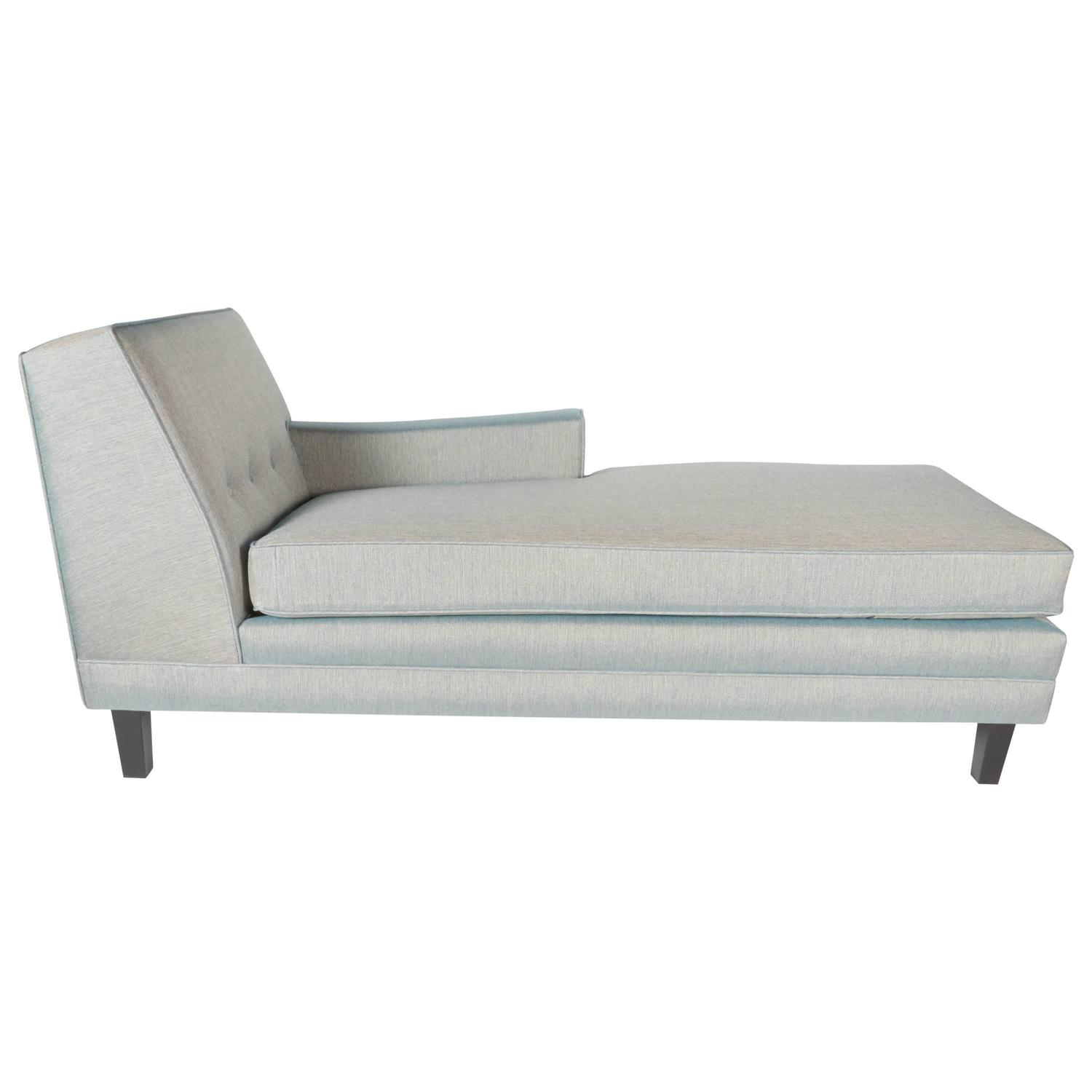 Mid century modern chaise lounge with low profile design for Modern design lounge chairs