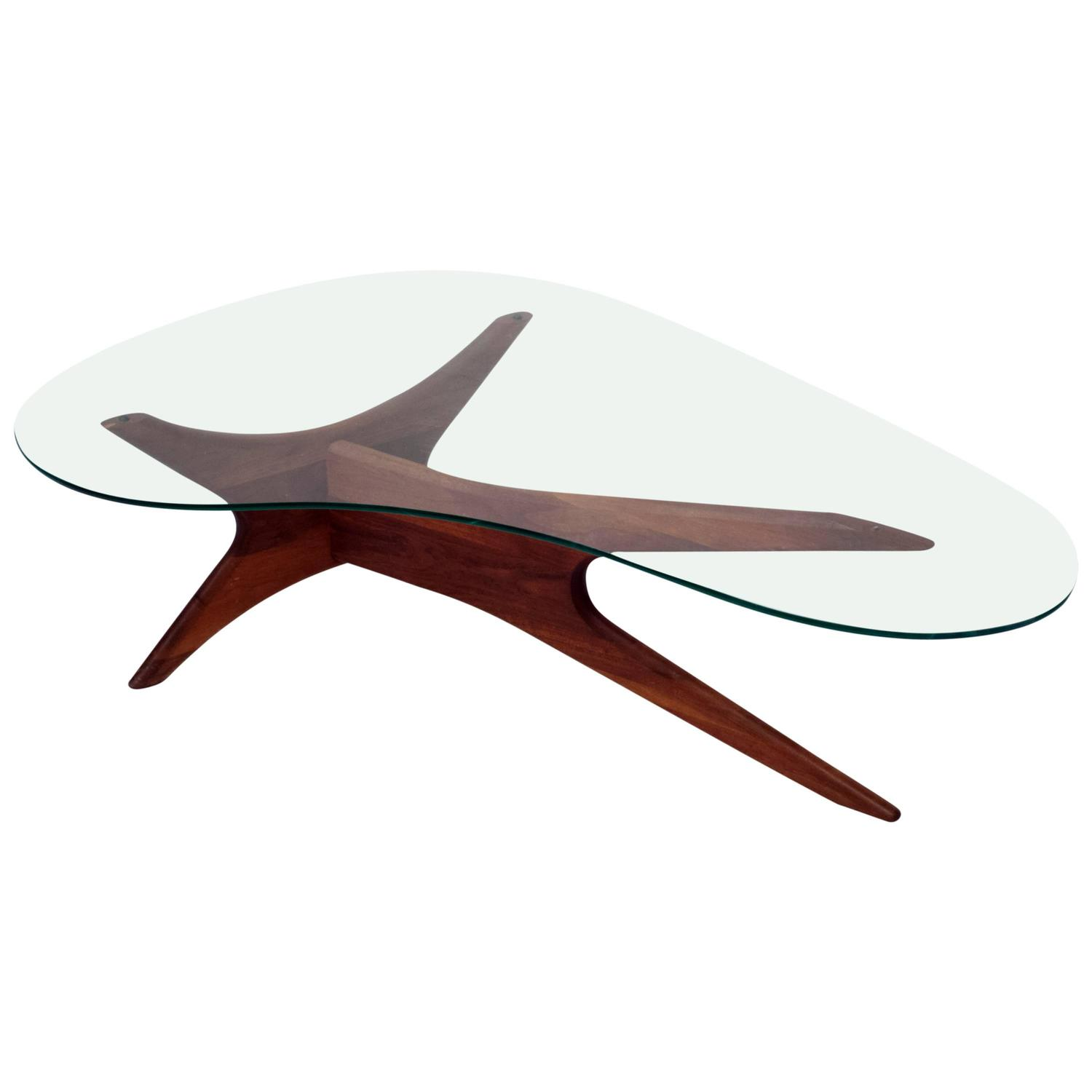 Adrian Pearsall Biomorphic Kidney Shaped Coffee Table At 1stdibs
