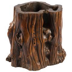 17th Century, China Rare Ghen 'Root' Brush Pot
