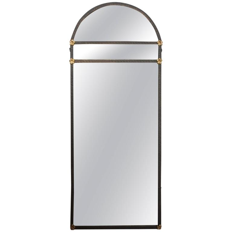 1920 39 s spanish revival narrow iron mirror at 1stdibs for Narrow mirror