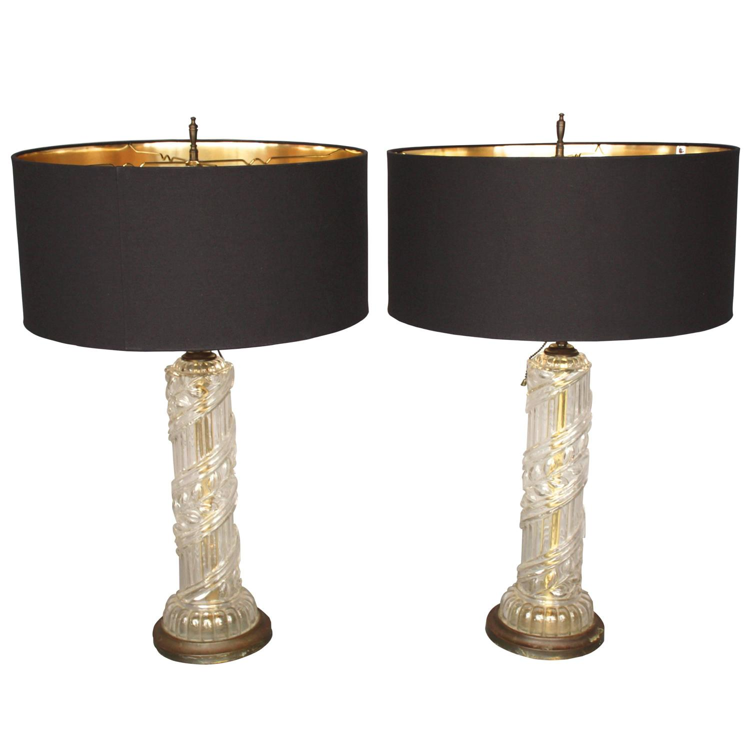 elegant pair of tall modernist table lamps at 1stdibs