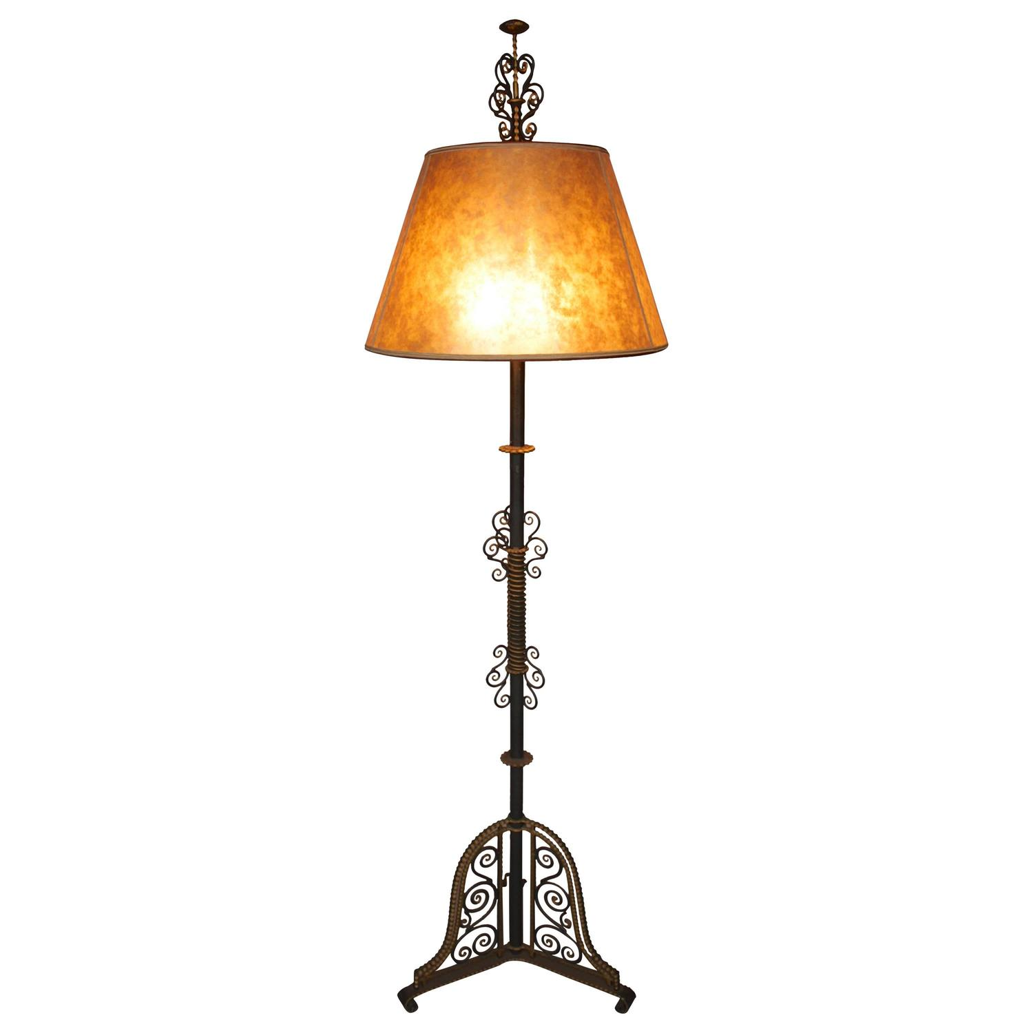 Spectacular Large Scale 1920 S Spanish Revival Floor Lamp
