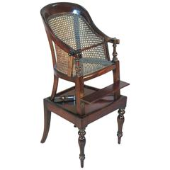 19th Century English Regency Style Child's High Chair