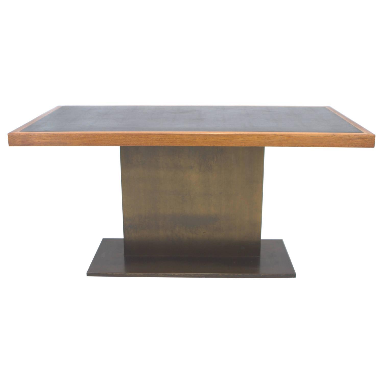 Warren Platner Bronze Base Writing Table for Lehigh  : 3816522z from www.1stdibs.com size 1500 x 1500 jpeg 39kB