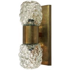 Brass Bubble Glass Light Fixture