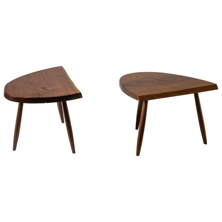 Phillip Lloyd Powell Pair Studio Craft Walnut Coffee Tables Usa 1960s For Sale At 1stdibs