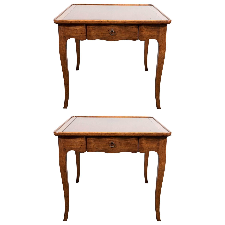 Baker Furniture Milling Road Coffee Table: Pair Of 1950s Milling Road Side Tables By Baker Furniture
