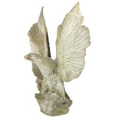 Large-Scale Cast Stone Eagle Garden Statue