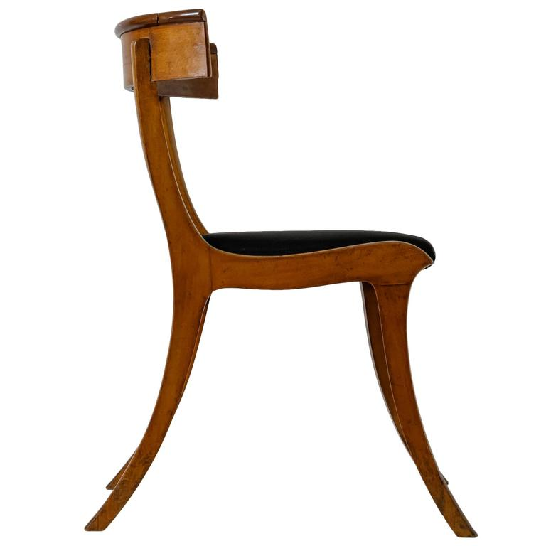 Kay Fisker Klismos Chair with Horsehair Seat Denmark