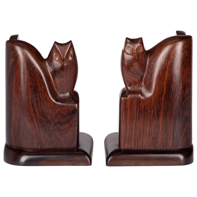 Art Deco Sculpted Bookends by Bernard Richters, 1920s