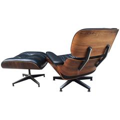 Herman Miller Eames Rosewood Lounge Chair and Ottoman 670/671