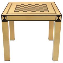 Jean Claude Mahey, games table, lacquered wood, circa 1970, France.