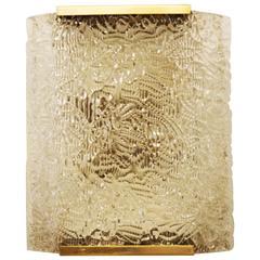 Large Ice Glass J.T. Kalmar Sconce