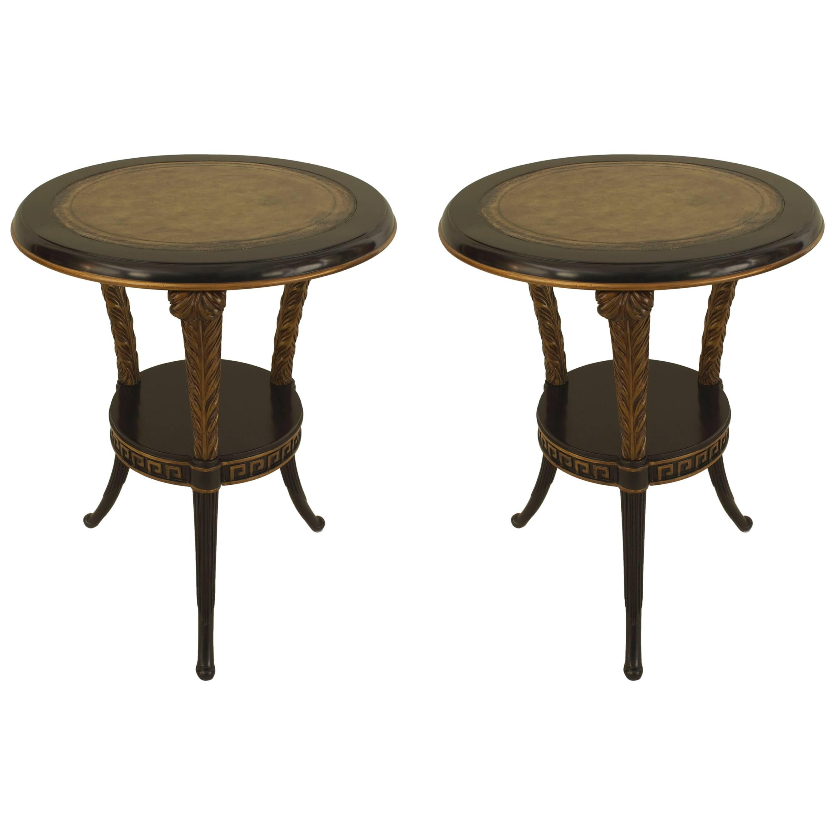 Pair of 1940s French Regency Style End Tables, By Jansen
