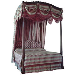 18th Century George III Period Mahogany Four-Poster Bed