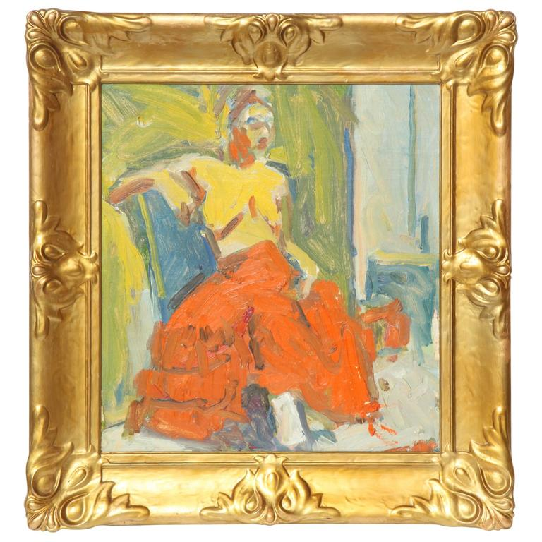 Nude Painting by Eduardo Rouario, circa 1968 For Sale
