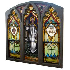 Vintage Stained Glass Church Window