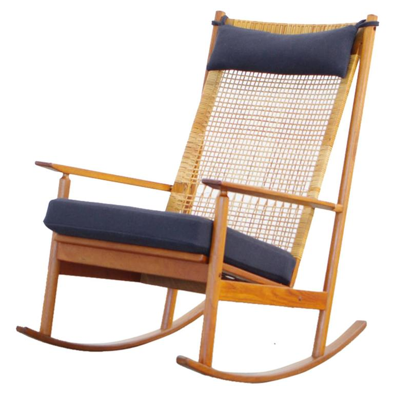 This Teak rocking chair by Danish Designer Hans Olsen MODEL 532 A 60s ...