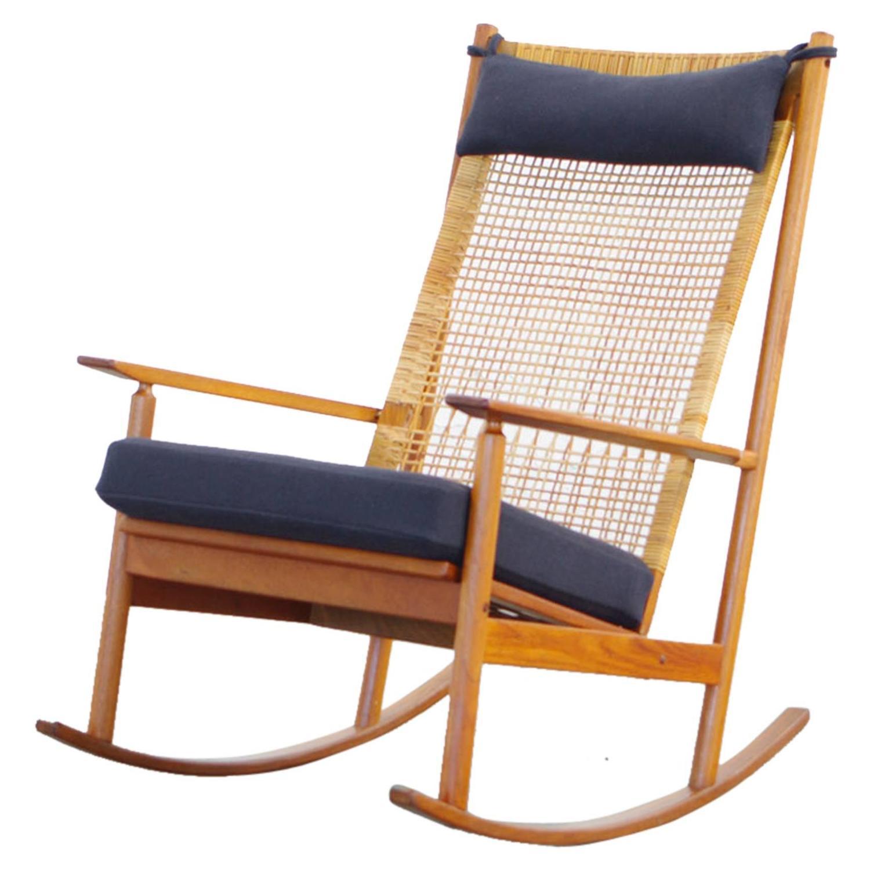 Teak rocking chair by danish designer hans olsen model 532 for Danish design mobel