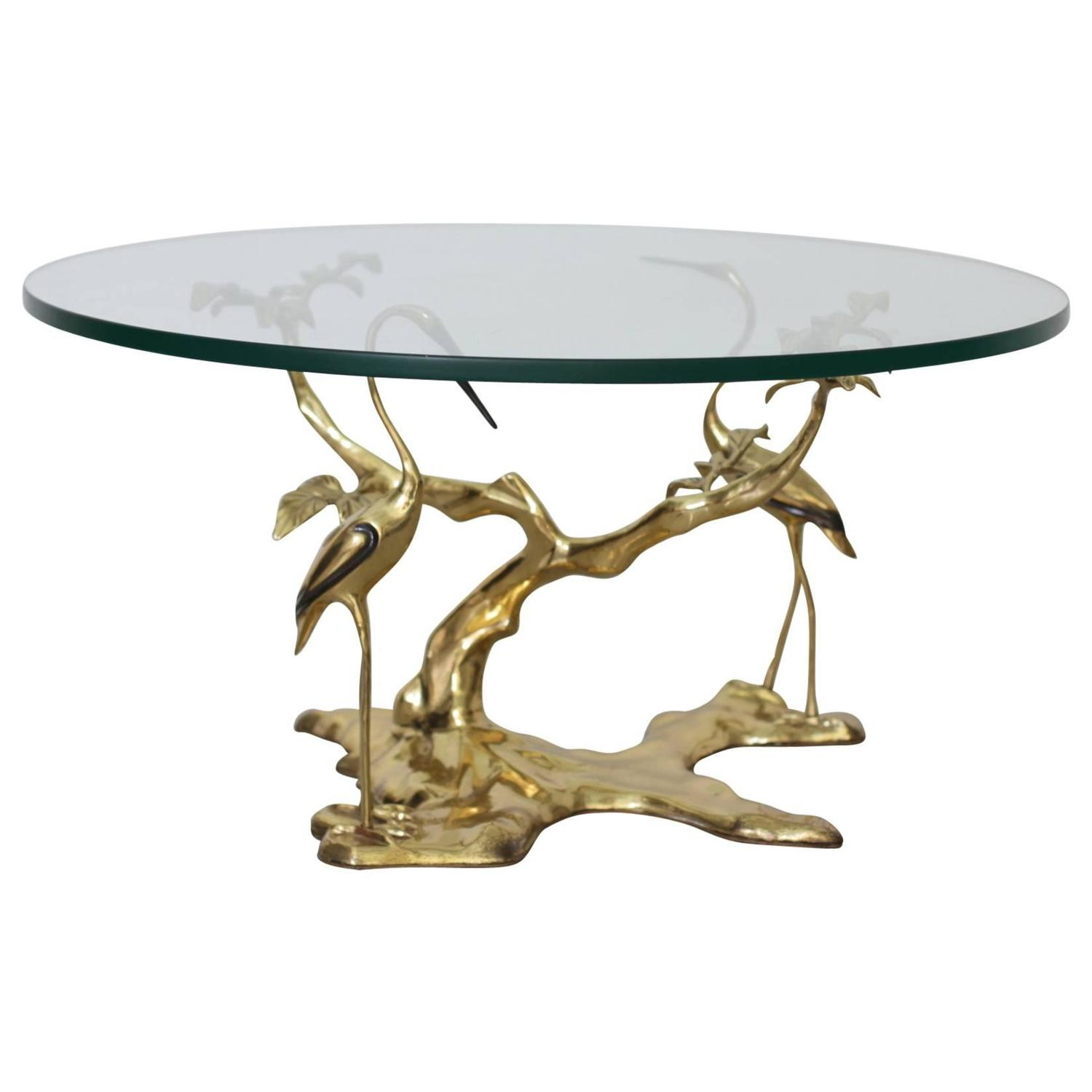 Crane Brass Cocktail or Coffee Table at 1stdibs