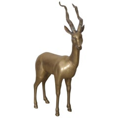 Extraordinary Huge Brass Ibex or Deer