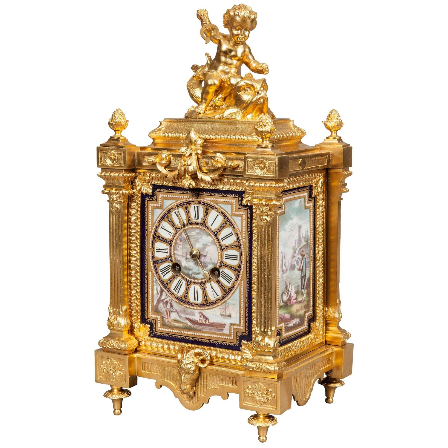 An Antique Table Clock in the Louis XVI Manner By Japy ... Antique Table Clocks