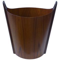 1968 Fine Einer Barnes Teak Waste Basket for P.S. Heggen