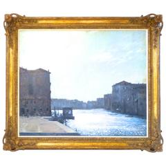 Original Oil Painting of an Italian Canal Scene