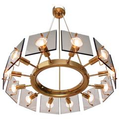 Twelve-Light Italian Chandelier by Cristal Art
