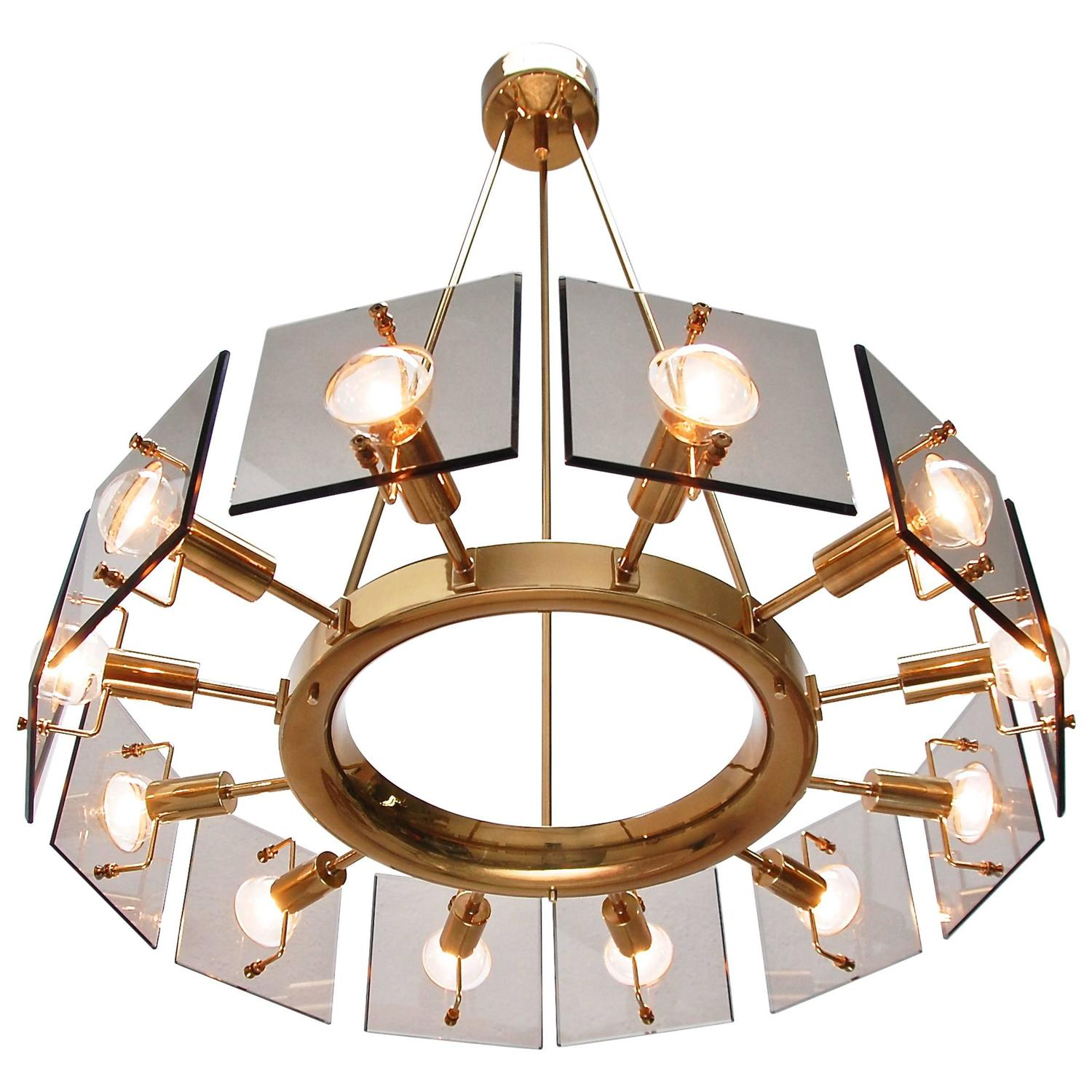 Twelve light italian chandelier by crystal arte for sale at 1stdibs aloadofball Images