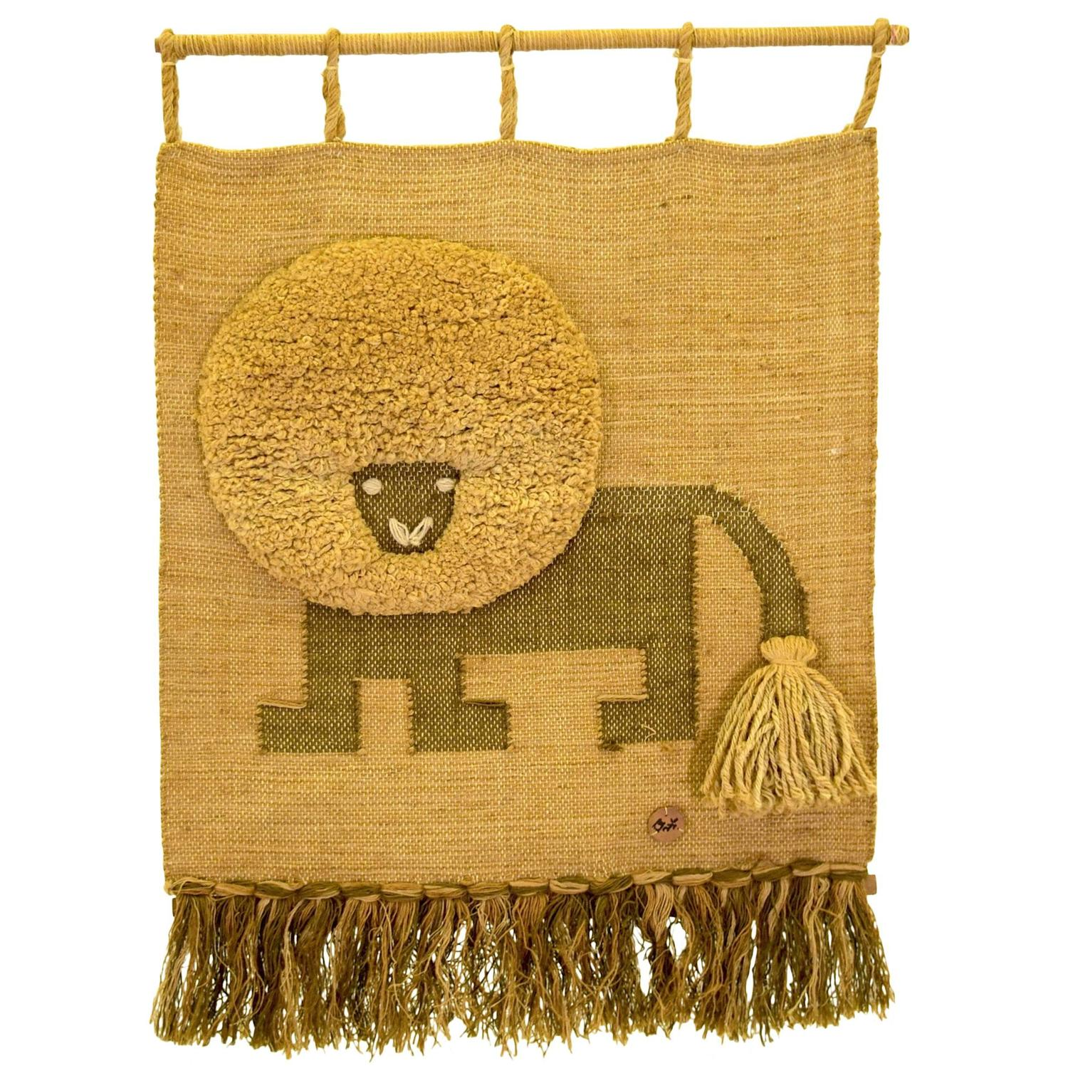 Large Lion Textile Art by Don Freedman for Interlude at 1stdibs