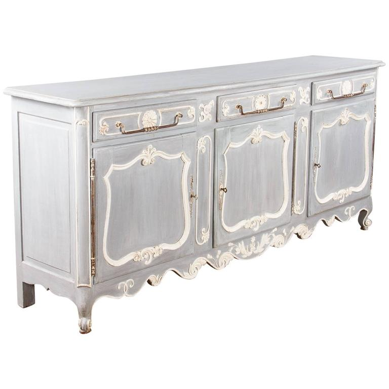 french louis xv style painted enfilade buffet late s for. Black Bedroom Furniture Sets. Home Design Ideas