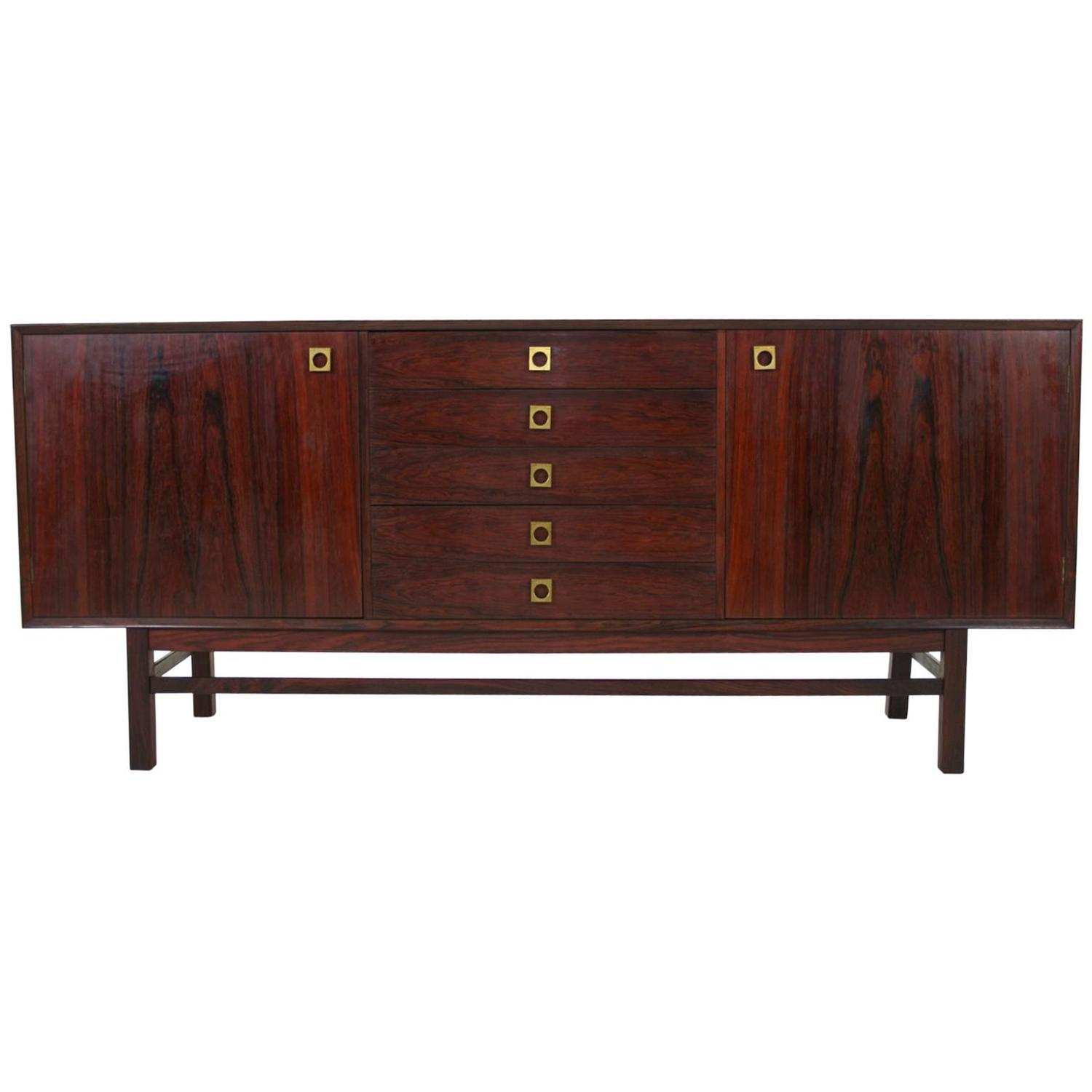 Danish Mid Century Modern Rosewood Credenza By Brouer At