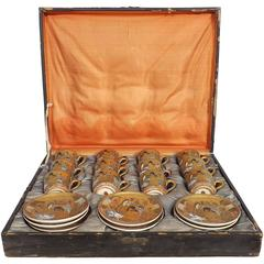 12 Satsuma Cups and Saucers Sets in Silk Lined Presentation Case
