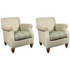 Pair of Baker Overstuffed Armchairs