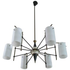 Chandelier Attributed to Stilnovo, Italy, 1950