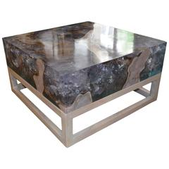 Andrianna Shamaris St. Barts Cracked Resin Coffee Table or Side Table