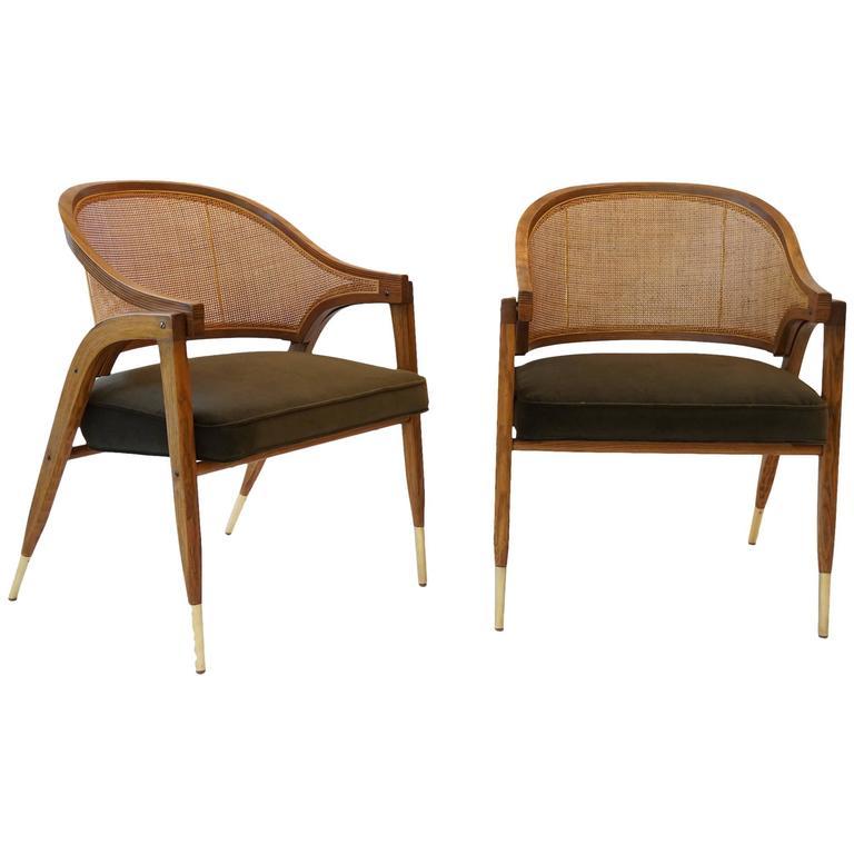 Pair of edward wormley chairs for dunbar at 1stdibs - Edward wormley chairs ...