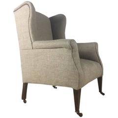 19th Century English Winged Back Chair