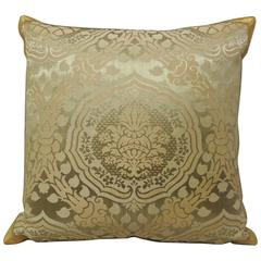 19th Century French Damask Pillow
