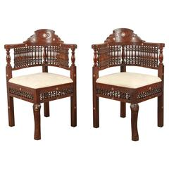 Pair of Moroccan Corner Chairs