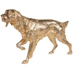 Gilt Metal Figure of a Setter