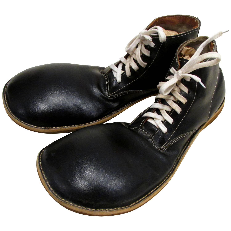 Black Leather Clown Shoes