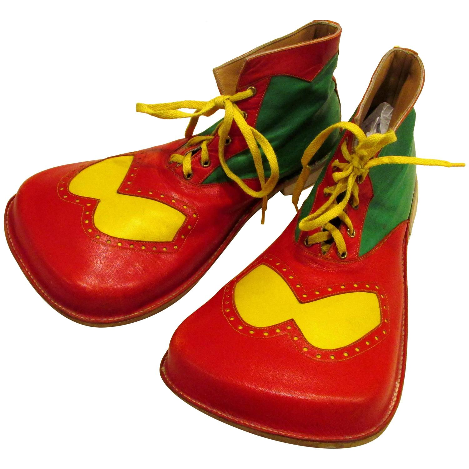 Red And Green Clown Shoes