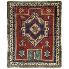 Antique Caucasian Kazak Prayer Rug
